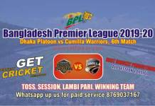 BPL T20 - Comilla vs Dhaka 6th Match Betting Tips & Match Prediction