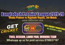 BPL T20 - Rajshahi vs Dhaka 3rd Match Betting Tips & Match Prediction