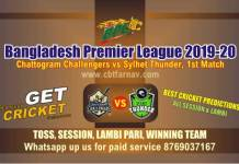 Sylhet vs Chattogram 1st Match BPL T20 Betting Tips & Match Reports