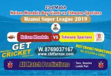 Tshwane vs Nelson 23rd Match MSL 2019 Betting Tips Match Reports