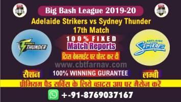 Today Match Prediction Thunder vs Adelaide 17th Big Bash 20 Betting Tips