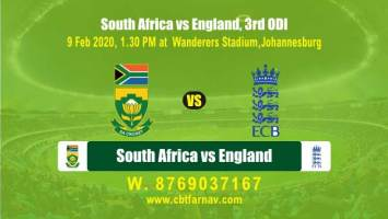 Today Match Prediction SA vs Eng 3rd ODI Betting Tips Toss Fancy Lambi