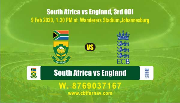 Today Match Prediction SA vs Eng 3rd ODI Betting Tips Toss Fancy Lambi