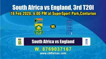 Today Match Prediction SA vs Eng 3rd T20 Betting Tips Toss Fancy Lambi
