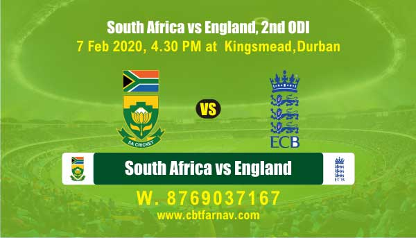 Today Match Prediction RSA vs Eng 2nd ODI Betting Tips Toss Session