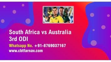 International ODI Match Prediction SA vs Aus 3rd Match Tips Toss Lambi
