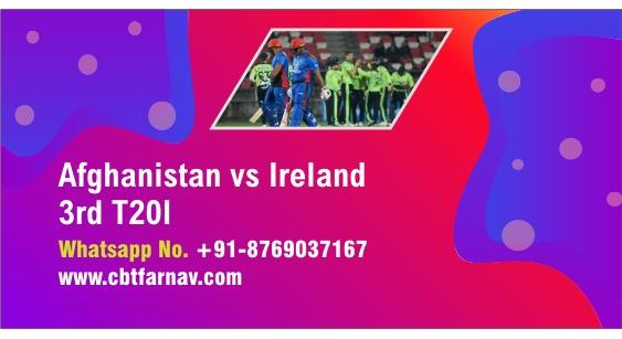 International T20 Match Prediction AFG vs IRE 3rd Match Tips Toss Fancy