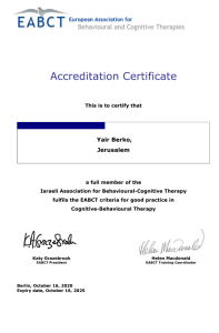 cbt therapy israel