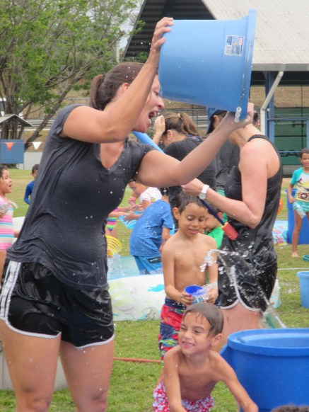A teacher's dream...dumping water on students!
