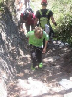 Going up was the easy part. Inca stairs were a bit tiresome on the way down