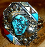Collaboration cuff Zuni-Navajo