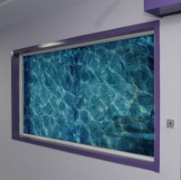 Blue Water Ripple Window Film Privacy cover Frosted ...