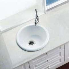 Single Bowl Cast Iron Kitchen Sink Island With Drawers 铸铁水槽 铸铁水槽价格 优质铸铁水槽批发 采购 阿里巴巴 厂家直销时尚家居厨房用铸铁搪瓷水槽圆形单槽水槽