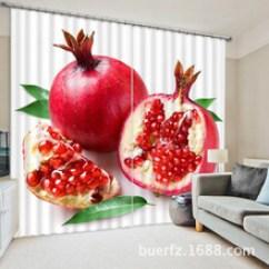 Fruit Kitchen Curtains Grohe Faucets Repair 水果窗帘 水果窗帘批发 促销价格 产地货源 阿里巴巴 石榴水果窗帘厨房用品出口外贸货源一级遮光布高精密黑丝