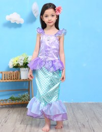 Kids Ariel Sequin Little Mermaid Set Girls Princess Fancy