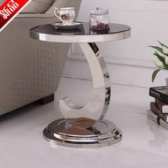 Round Glass Kitchen Table Waste Baskets 圆形玻璃茶几 圆形玻璃茶几批发 促销价格 产地货源 阿里巴巴 玻璃小圆形茶几电话小桌子不锈钢沙发边几时尚创意字母小