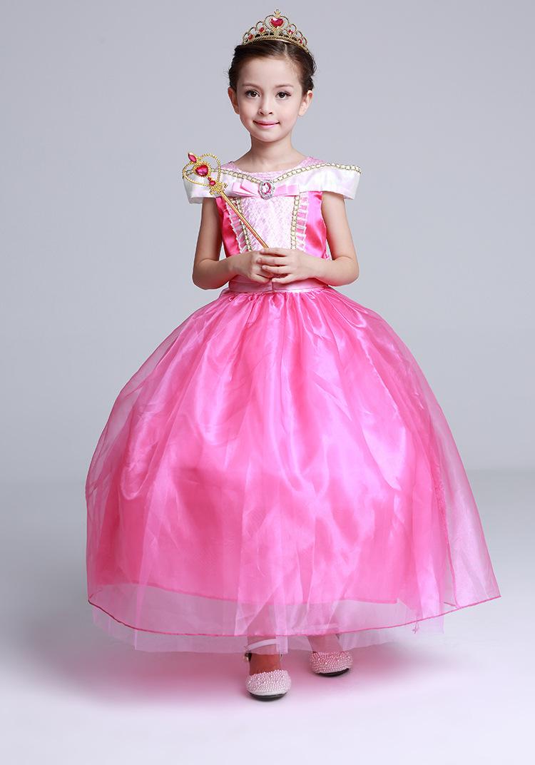 禮服長裙_愛洛公主裙夏款公主裙中大女童裙睡美人aurora極光禮服 - 阿里巴巴