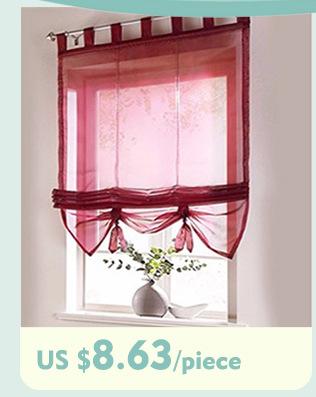 ᐂCocina panel de poliéster a prueba de polvo plisada cortina para ...