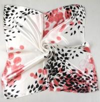 Women Fashion Soft Silk Square Scarf Small Plain