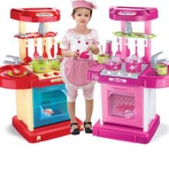Childrens Toy Kitchen Remodel Estimate 儿童玩具厨房厨餐具价格 最新儿童玩具厨房厨餐具价格 批发报价 儿童玩具 批发过家家益智玩具手提箱儿童男女孩多功能仿真厨房