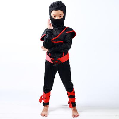 六一演出服_忍者武士服裝 cos六一兒童萬圣節 蒙面黑色忍者服 - 阿里巴巴