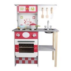 Wooden Kids Kitchen Epoxy Countertops 木制厨房玩具 木制厨房玩具批发 促销价格 产地货源 阿里巴巴 幼乐比 玫红色欧式厨房木制儿童仿真厨房宝宝过