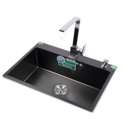 Black Sink Kitchen Setup Ideas 不锈钢套装 纳米水槽黑色大单槽304台上厨房手工洗菜单盆 阿里巴巴 纳米水槽黑色大单槽304不锈钢加厚台上台下厨房手工