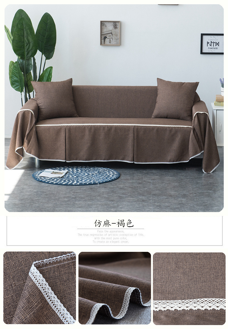 linen sofa slipcover table with drawers high quality cover 1 2 3 seater easy fit lounge couch details about slipcovers au