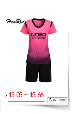 f5e8eff0da Mulheres conjuntos de treinamento de futebol de manga curta esportes terno  equipe DIY Personalizado nome e número de impressão Respirável meninas  uniforme ...