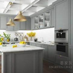Ash Kitchen Cabinets Rustic Cabinet 防水橱柜 防水橱柜批发 促销价格 产地货源 阿里巴巴 武汉荟家木纹铝定制整体橱柜高级灰铝合金零甲醛定做