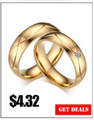 845cf446f156 √Vinterly negro cristal grande anillo de compromiso de acero ...