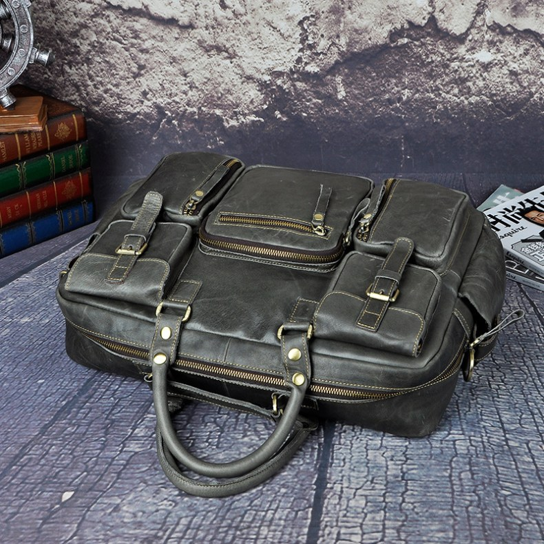 7001635097 2068518898 Original leather Men Fashion Handbag Business Briefcase Commercia Document Laptop Case Design Male Attache Portfolio Bag 3061-bu