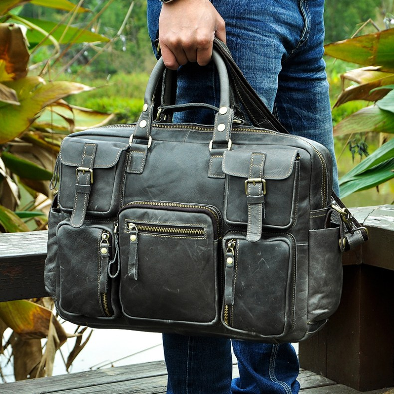 7258778008 2068518898 Original leather Men Fashion Handbag Business Briefcase Commercia Document Laptop Case Design Male Attache Portfolio Bag 3061-bu