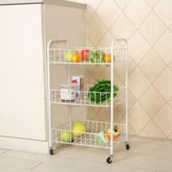 Folding Kitchen Cart Hgtv Backsplash 厨房推车 厨房推车批发 促销价格 产地货源 阿里巴巴 新款创意家居三层推车折叠移动杂物收纳水果厨房蔬菜架
