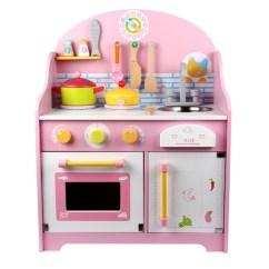 Wooden Kids Kitchen Cabinet Refinishing Orlando Fl 益智玩具 日式可爱粉色厨房套装木制儿童厨房益智 阿里巴巴 日式可爱粉色厨房套装木制儿童过家家仿真厨房益智