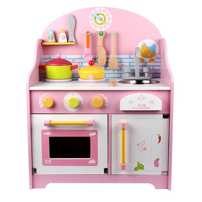 wood kitchen set faucet parts 益智玩具 日式可爱粉色厨房套装木制儿童厨房益智 阿里巴巴 日式可爱粉色厨房套装木制儿童过家家仿真厨房益智