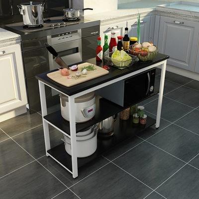kitchen workbench aids 厨房工作台 家用长方形置物架微波炉烤箱收纳架简易多层切菜桌子厨房工作