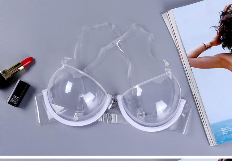 隱形文胸_全透明隱形女士內衣超薄透明帶鋼圈聚攏乳罩性感上托胸罩 - 阿里巴巴