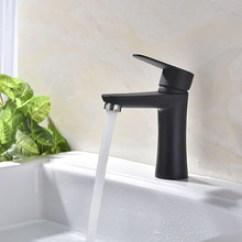 Kitchen Faucet Black Kitchens Remodel 黑色水龙头 黑色水龙头批发 促销价格 产地货源 阿里巴巴 304不锈钢烤漆冷热面盆水龙头喷色黑色白色洗脸盘厨房台下