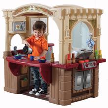 american plastic toys custom kitchen booth seating step2厨房 step2厨房批发 促销价格 产地货源 阿里巴巴 美国进口玩具step2角色扮演过家家玩具豪华开放式烧烤厨房821400