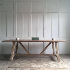 Retro Kitchen Tables French Country Chairs 欧式餐桌 老杉木厨房餐桌定制批发厂家直销 阿里巴巴 Old 219 8