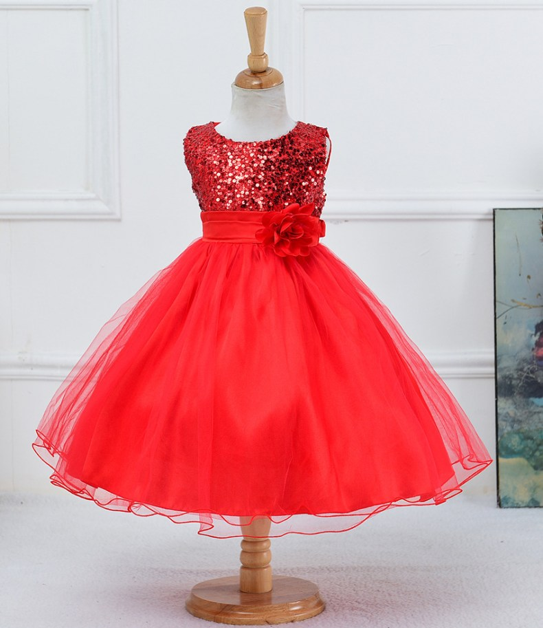 9339742610 1319078801 1-14 yrs teenagers Girls Dress Wedding Party Princess Christmas Dresse for girl Party Costume Kids Cotton Party girls Clothing