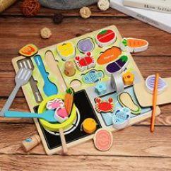 Wood Kitchen Playsets Pink Aid Mixer 木制厨房玩具 木制厨房玩具批发 促销价格 产地货源 阿里巴巴 木质拼图儿童切水果玩具女孩厨房切切看男孩过家家切切乐