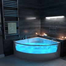 Modern Whirlpool Bath 15 Jacuzzi Jet Spa Shower Massage