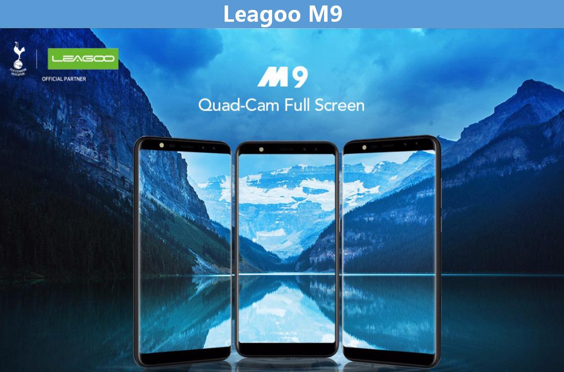 8213460480 1522436939 LEAGOO M9   5.5 3G With Case 2GB/16GB 2850mAh Fingerprint Android 7.0 EU   Black