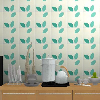 kitchen wall art tall cabinets 厨房墙砖 现代卫生间花砖釉面砖绿色艺术瓷质砖阳台厨房瓷砖20 阿里巴巴 北欧现代卫生间花砖釉面砖绿色树叶艺术瓷质砖阳台厨房墙砖