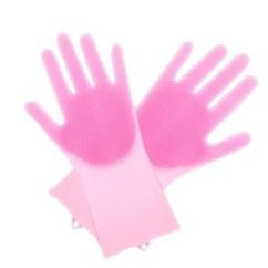 Kitchen Gloves Artwork Ideas 厨房手套 厨房手套批发 促销价格 产地货源 阿里巴巴 抖音洗碗手套厨房清洁硅胶刷洗碗手套多用家务魔术硅胶