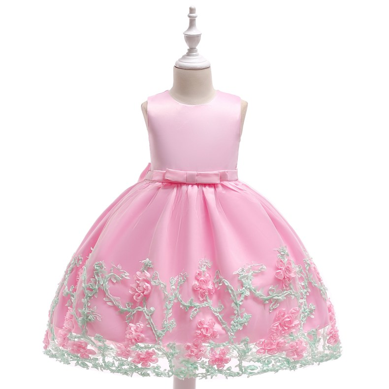 8847027151 1028449503 2019 Kids Tutu Birthday Princess Party Dress for Girls Infant Lace Children Bridesmaid Elegant Dress for Girl baby Girls Clothes