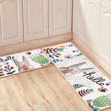 kitchen carpet sets remodeling chattanooga tn 厨房地垫两件套 厨房地垫两件套价格 厨房地垫两件套批发 采购 阿里巴巴 限时包邮卡通创意浴室垫防滑吸水卧室床边地毯定制厨房地