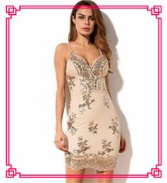 Liva Girl 2018 Black Gold Sexy Party Mini Sequin Dress Women Sexy V Neck  Bodycon Dresses Summer Pencil Dress Vestidos De Festa 816818904c48